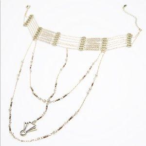 Free people lotus layered necklace